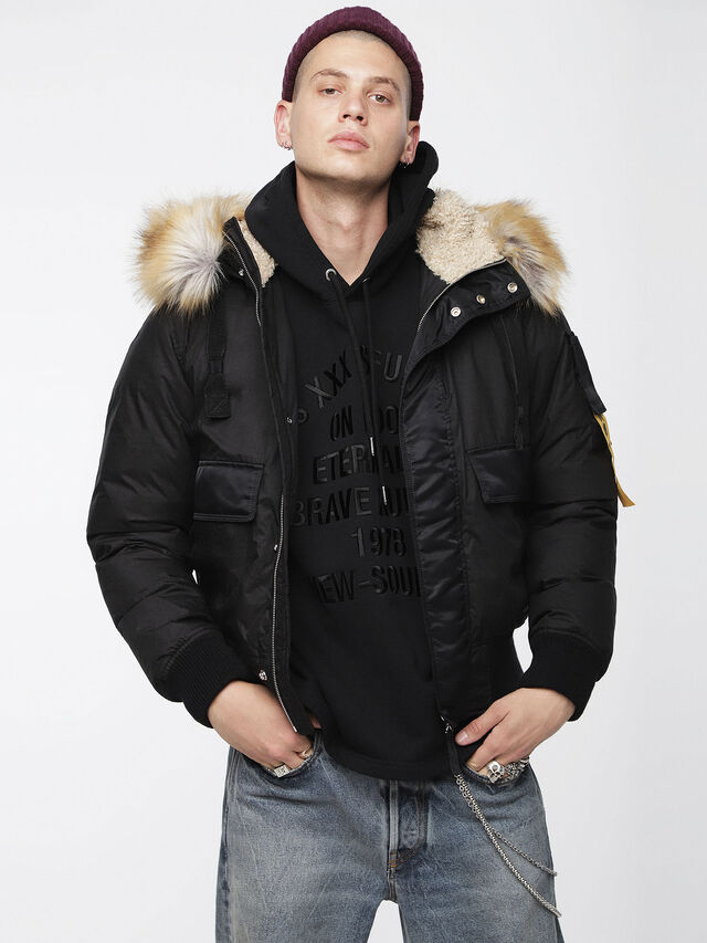 Diesel - W-BURKE, Black - Winter Jackets - Image 1