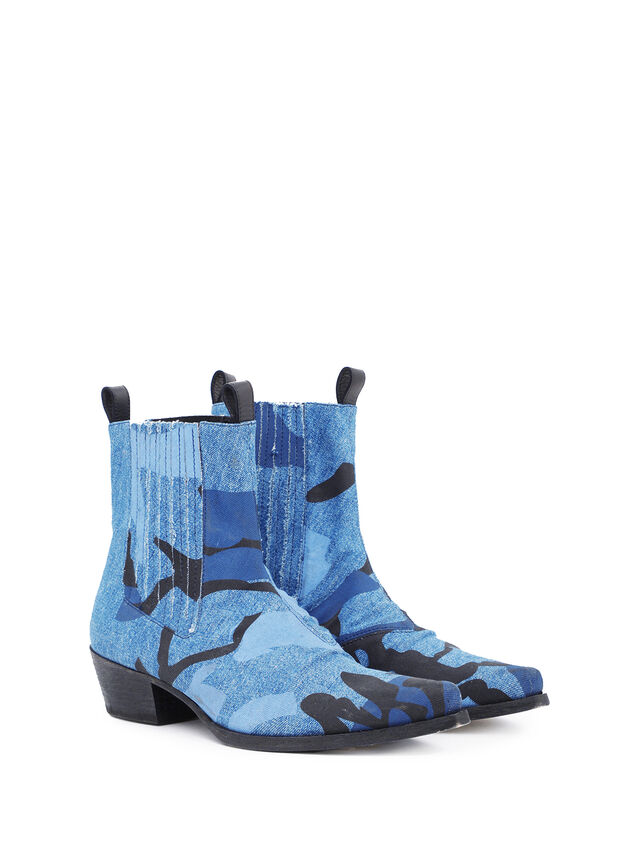 Diesel - SOCHELSEABOOT, Melange Blue - Boots - Image 1
