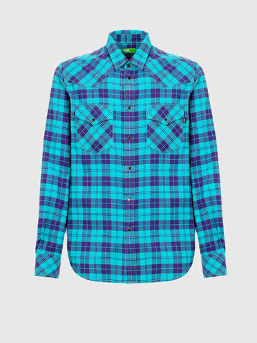 Green Label flannel Western shirt