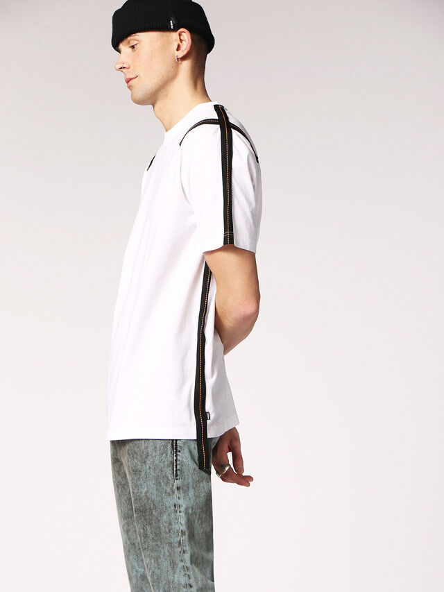 Diesel - T-JUST-TAPE, White - T-Shirts - Image 5