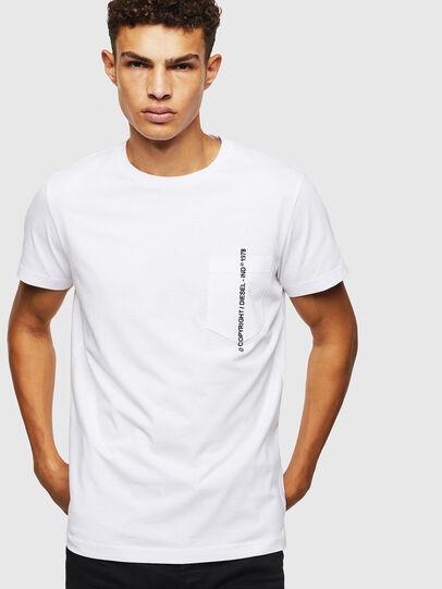 Diesel - T-RUBIN-POCKET-J1, White - T-Shirts - Image 5