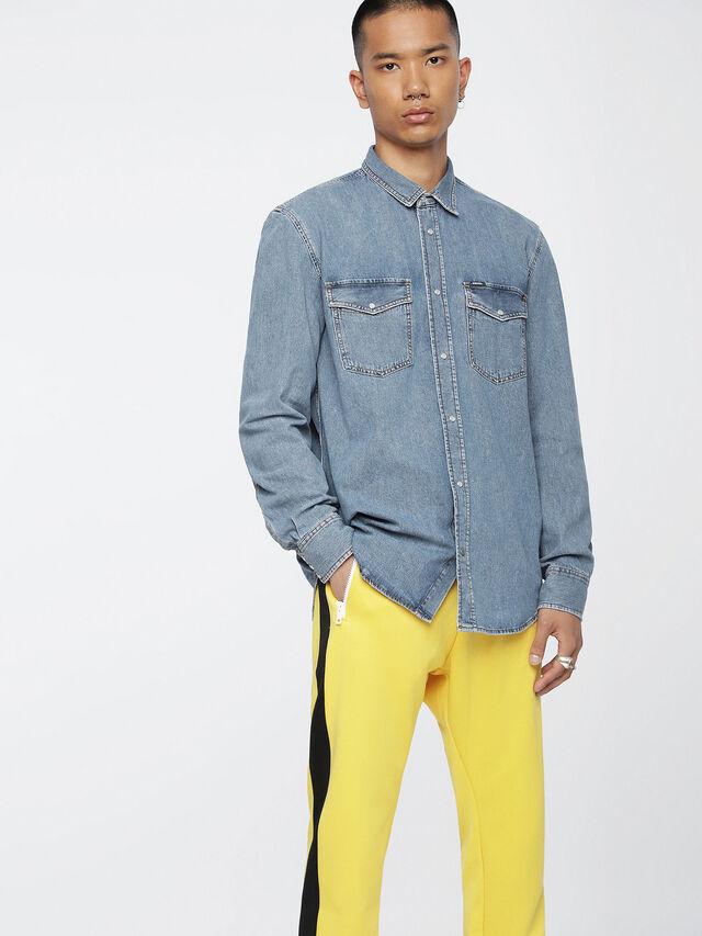 Diesel - D-ROOKE, Blue Jeans - Denim Shirts - Image 1
