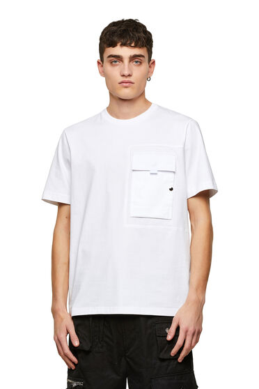 Panelled T-shirt in Supima Cotton