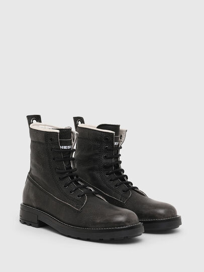 Diesel - D-THROUPER DBB W, Dark grey - Ankle Boots - Image 2