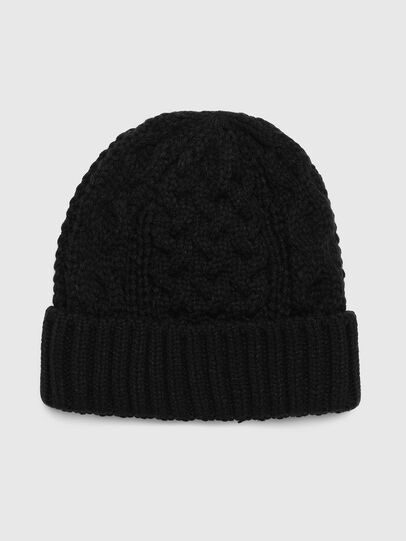 Diesel - K-KONEX, Black - Knit caps - Image 1