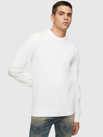 Diesel - K-LESTER, White - Knitwear - Image 1