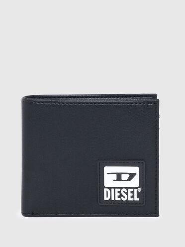 Bi-fold wallet in faux leather