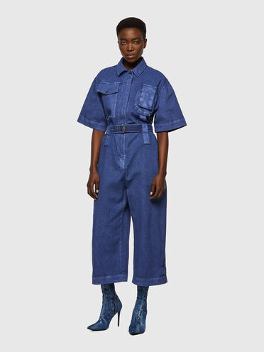 Jumpsuit in overdyed canvas