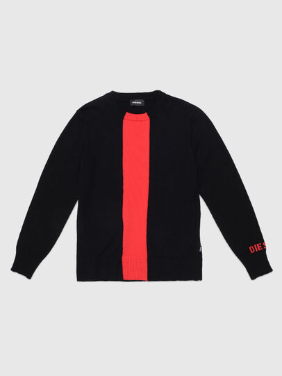 Diesel - KTAPEX, Black/Red - Knitwear - Image 1