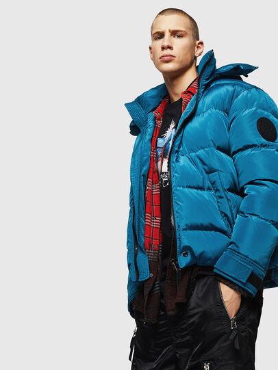 Diesel - W-SMITH-YA, Blue Marine - Winter Jackets - Image 4