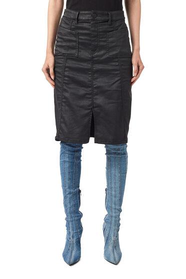 Pencil skirt in coated JoggJeans®