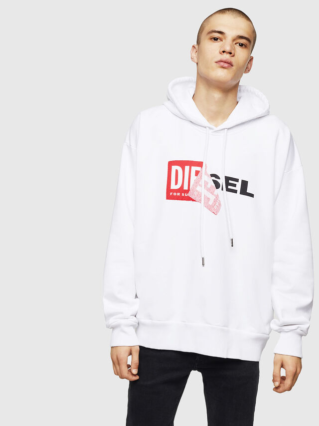 Diesel S-ALBY, White - Sweaters - Image 1
