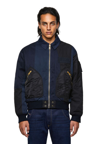 Bomber jacket with panelled design