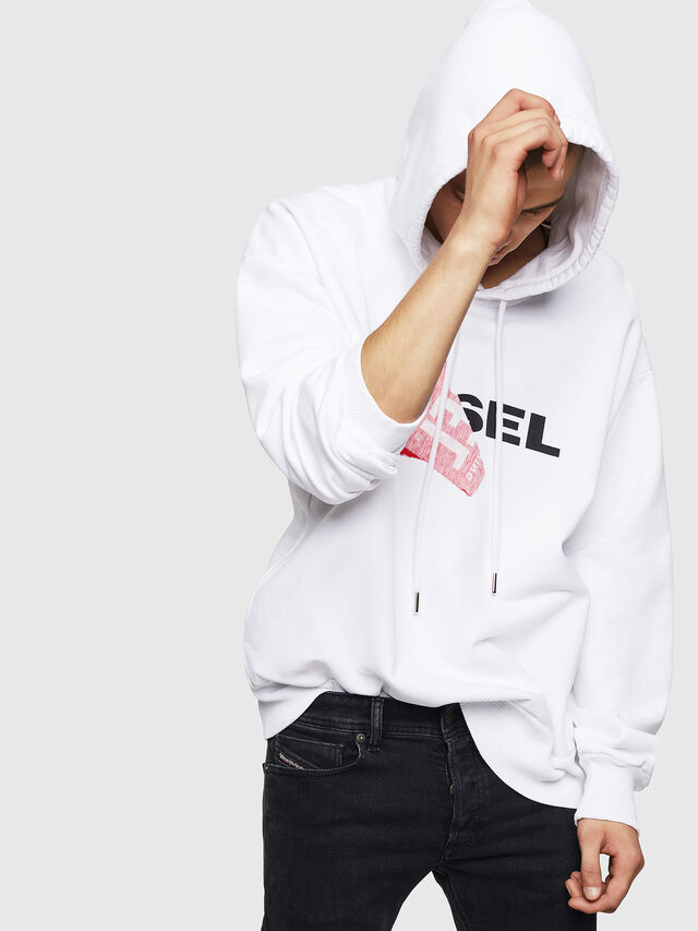 Diesel S-ALBY, White - Sweaters - Image 4