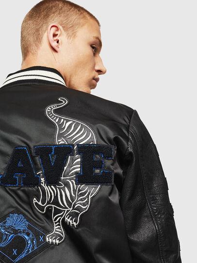 Diesel - L-KHARKOV, Black - Leather jackets - Image 6