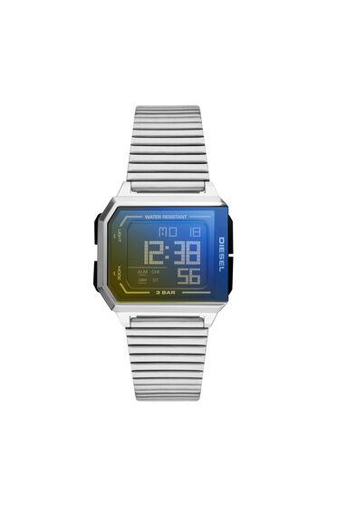 Chopped digital stainless steel watch