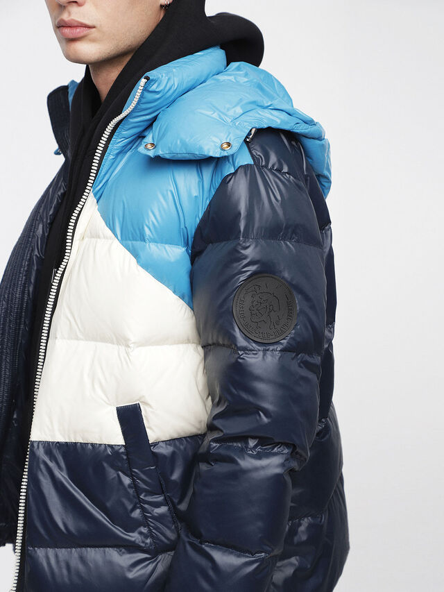 Diesel - W-SMITH, Multicolor/Blue - Winter Jackets - Image 3