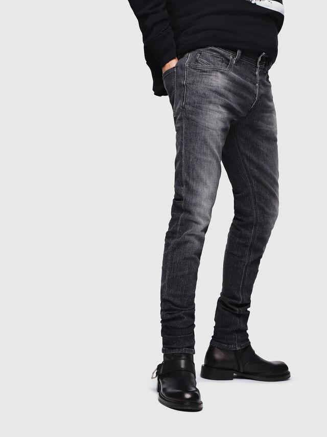 Diesel - Sleenker 089AA, Black/Dark grey - Jeans - Image 3