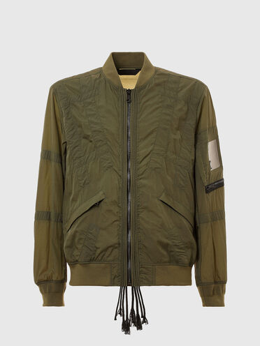 Top-stitched bomber jacket