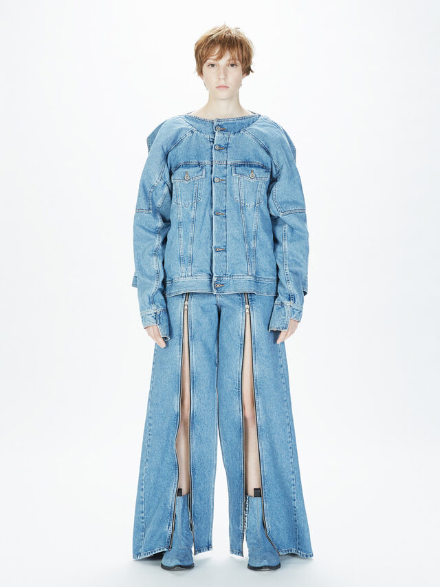 Diesel - SOJK01, Light Blue - Jackets - Image 8