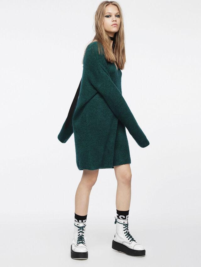 Diesel - M-SOFTY, Bottle Green - Dresses - Image 4