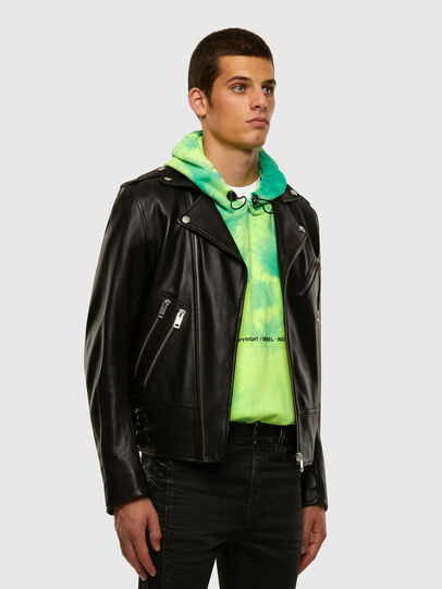 Diesel - L-GARRETT, Black - Leather jackets - Image 7