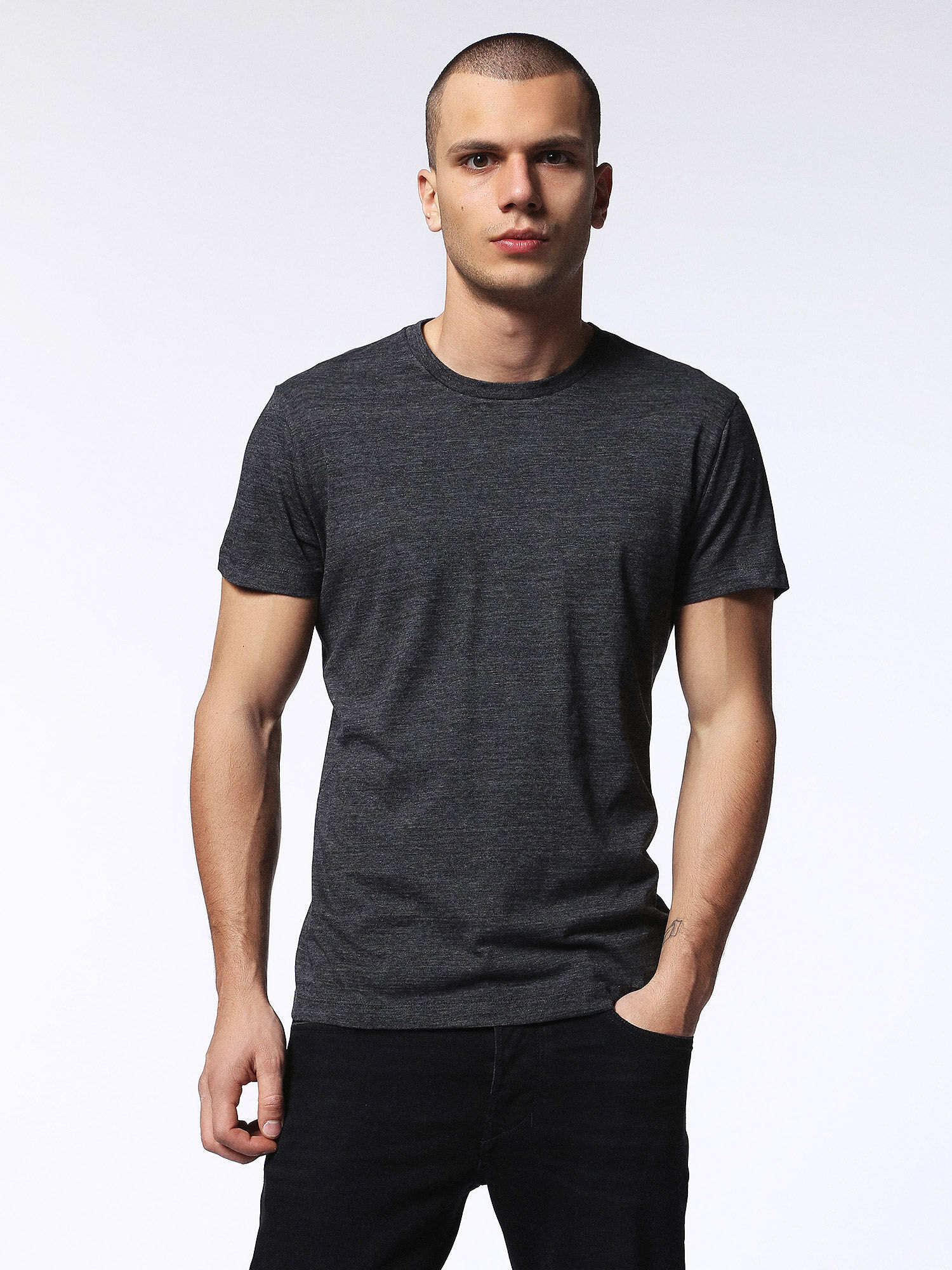 00SN1L0GAOB T-Shirts Man T-SIRIO by Diesel Anthracite