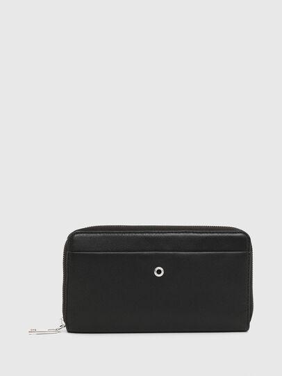 Diesel - GRANASOF, Black - Zip-Round Wallets - Image 1