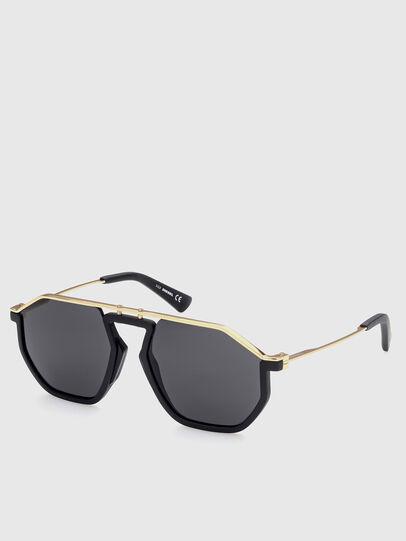 Diesel - DL0346, Black/Gold - Sunglasses - Image 2