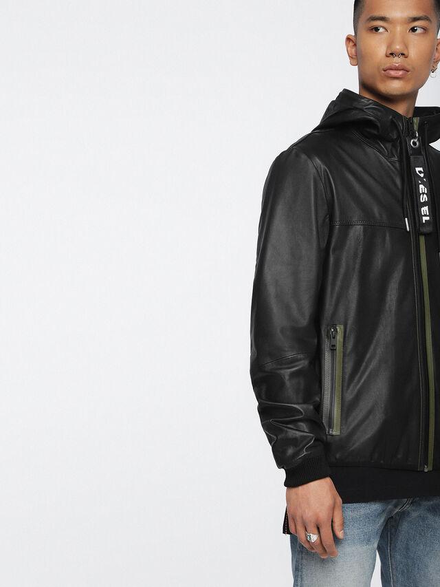 Diesel - L-TECH, Black - Leather jackets - Image 4