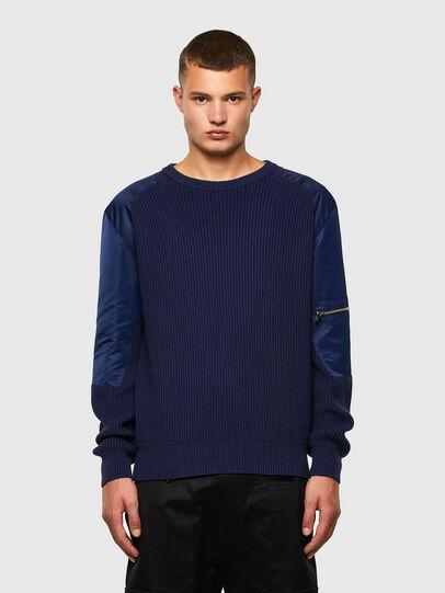 Diesel - K-GEORGE, Blue - Knitwear - Image 1