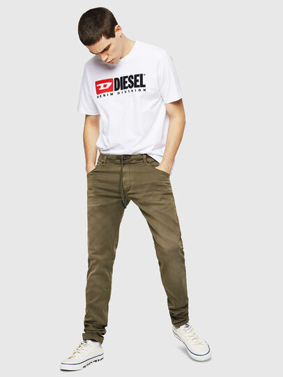 Diesel - Krooley Long JoggJeans 0670M, Military Green - Jeans - Image 4