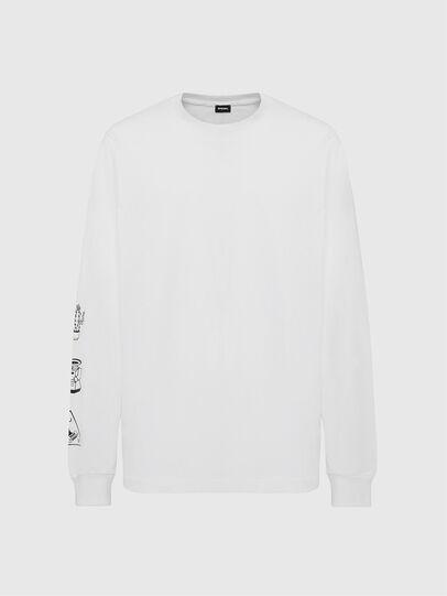 Diesel - T-JUST-LS-X90, White - T-Shirts - Image 1