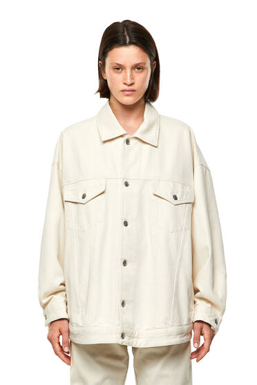 Jacket in stonewashed fix denim