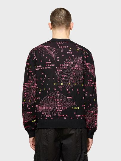 Diesel - K-OREGON, Black/Pink - Knitwear - Image 2
