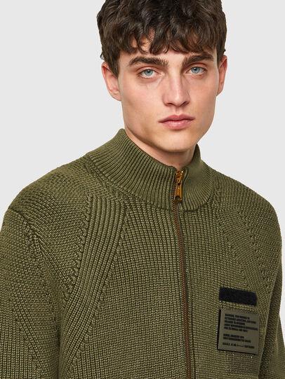 Diesel - K-MEXICO, Olive Green - Knitwear - Image 3