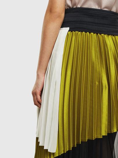 Diesel - O-ESCY, Black/Yellow - Skirts - Image 5