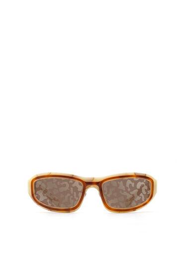 Wraparound experimental construction sunglasses