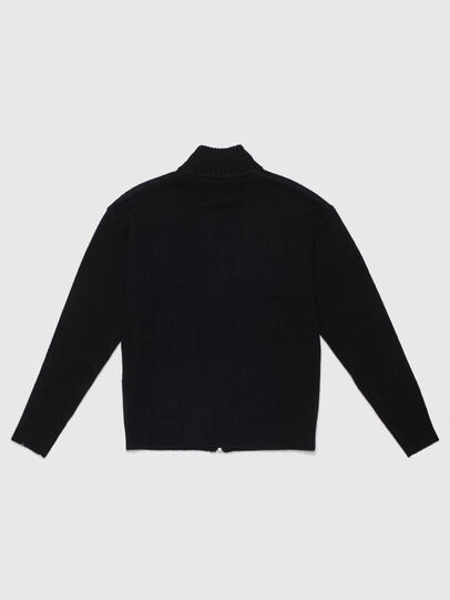 Diesel - KLOGOXZIP, Black - Knitwear - Image 2