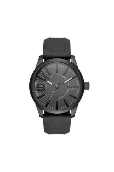 Rasp total black silicon watch, 46 mm