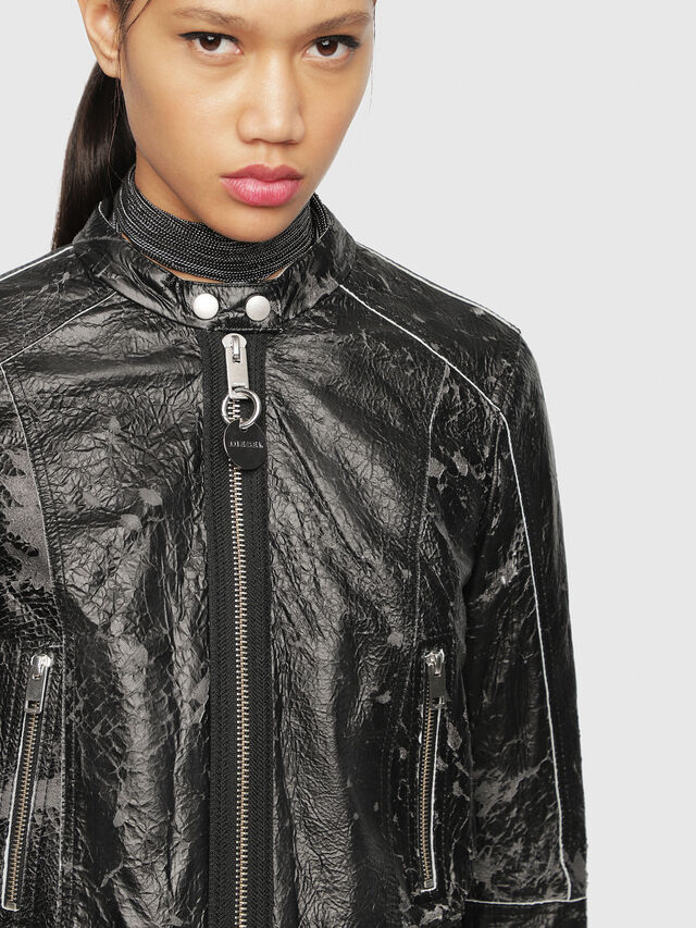 Diesel - L-LYSSA-D, Black - Leather jackets - Image 1