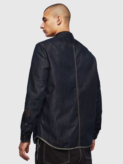 Diesel - D-MILLY, Dark Blue - Denim Shirts - Image 2