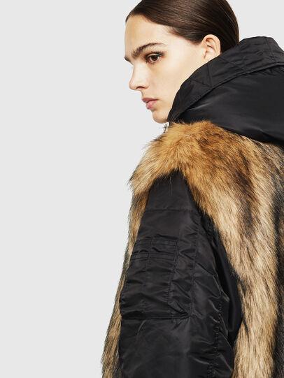 Diesel - L-ALYANA, Black/Brown - Leather jackets - Image 5