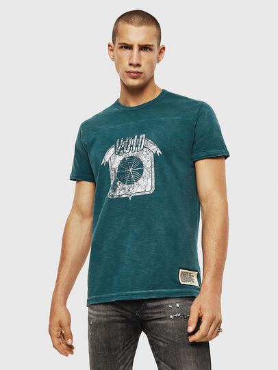 Diesel - T-DIEGO-CUT-AC, Blue Marine - T-Shirts - Image 1
