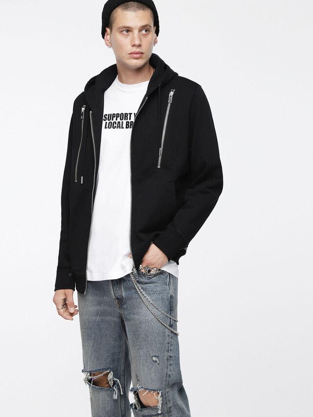 Diesel - S-ZIPPERY, Black - Sweaters - Image 1