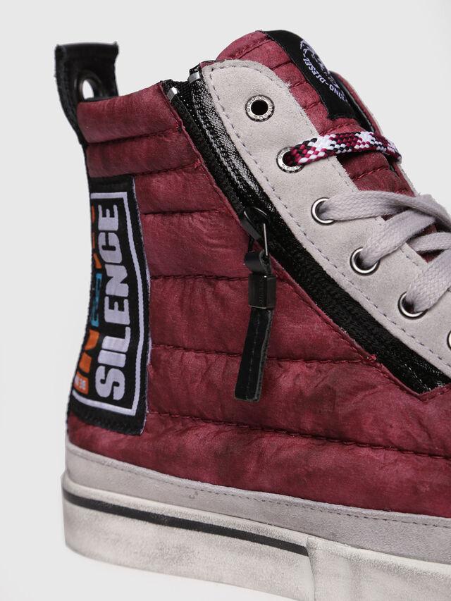 Diesel - D-VELOWS MID PATCH, Burgundy - Sneakers - Image 4