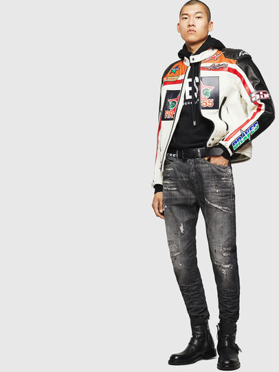 Diesel - ASTARS-LPATCH-1A, White - Leather jackets - Image 8