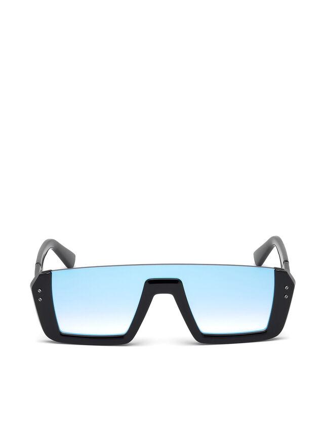 Diesel - DL0248, Bright Black - Sunglasses - Image 1