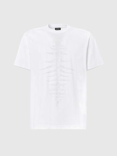 T-shirt with tonal fishbone print