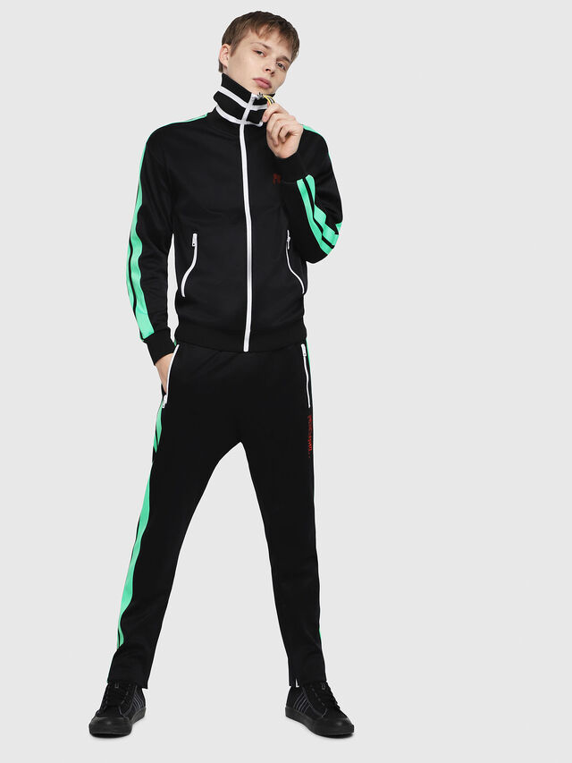 Diesel - P-RUSSY-BAND, Black/Green - Pants - Image 4